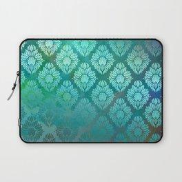 """""""Turquoise Ocean Damask Pattern"""" Laptop Sleeve"""