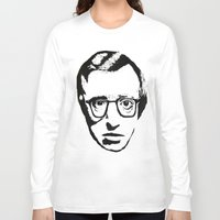 woody allen Long Sleeve T-shirts featuring Woody Allen by Black Neon