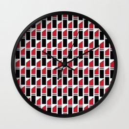 Lipstick Junkie - Classic Red Wall Clock