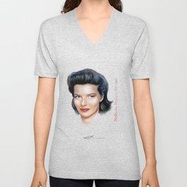 Katharine Hepburn Unisex V-Neck
