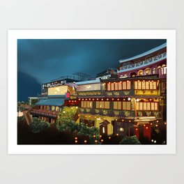 Tea house Juifen Art Print