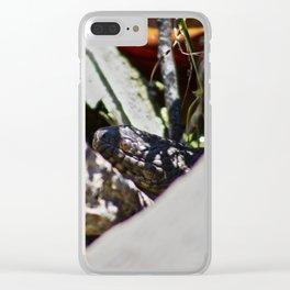 Peeking Snake Clear iPhone Case