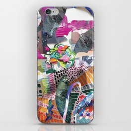 Boho mixed media iPhone Skin