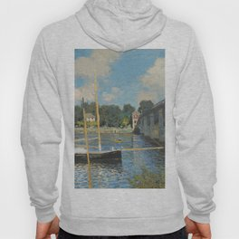 Claude Monet The Bridge at Argenteuil 1874 Painting Hoody