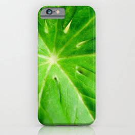 Peaceful Greenery Podophyllum Leaf Botanical / Nature Photograph iPhone Case
