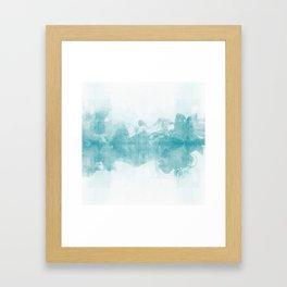 Ink Spot No. 1 | Turquoise Framed Art Print