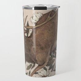 Floral Elk Travel Mug