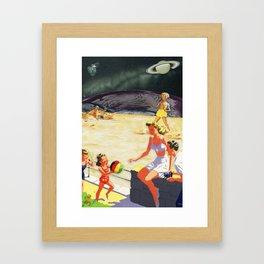 Beach on the Edge of Infinity Framed Art Print