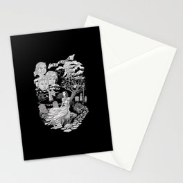 Hispanic Legend La Llorona (black and white) Stationery Cards