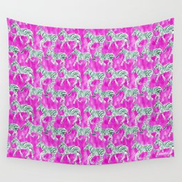 ZEBRA PLAY Wall Tapestry