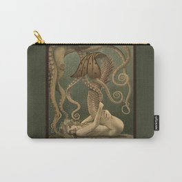 """Mermaid and Octopus"" by David Delamare Carry-All Pouch"
