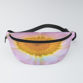 Pink Iridescent Floral Abstract Fanny Pack