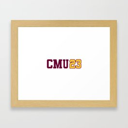 Central Michigan Class of 2023 Framed Art Print