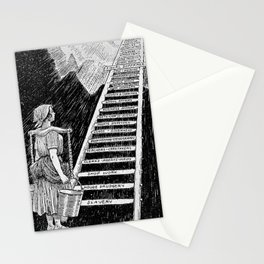 Women's Rights Illustration 1920 - The Sky is Now Her Limit Stationery Cards