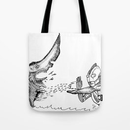 Ultraman v.s. Knifehead Tote Bag