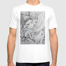 Griffen Mens Fitted Tee White MEDIUM