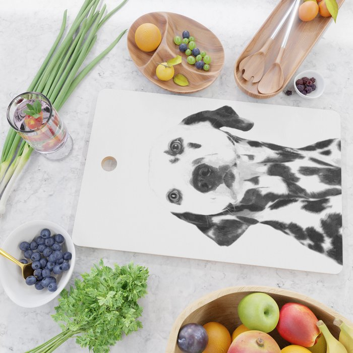 Black and White Dalmatian Cutting Board