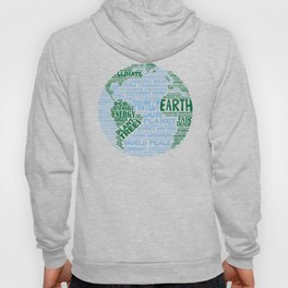 Protect Earth Word Bubble Hoody