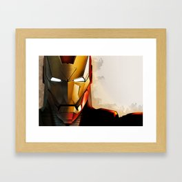 Iron Man new helmet Framed Art Print