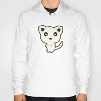 kawaii Hoodies featuring Kawaii Cat by Nir P