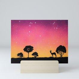 Antelope Silhouette Mini Art Print