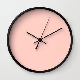 Millennial Pink Solid (Flower Time) Wall Clock