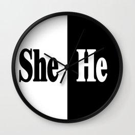She vs He Wall Clock