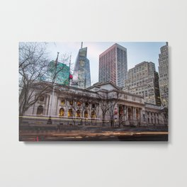 New York Public Library : old vs new buildings Metal Print