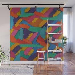 Jewel Tones and Brushstrokes Wall Mural