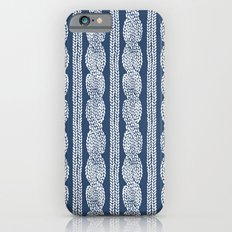 Cable Knit Navy Slim Case iPhone 6s