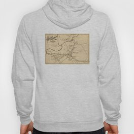 Vintage Battle of Concord Map (1875) Hoody