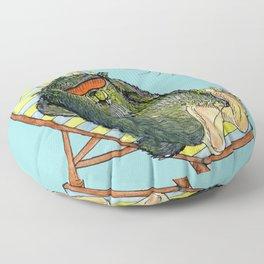 Mega Monsters Sunbath III. Floor Pillow