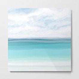 Sea View 282 Turquoise Ocean Metal Print