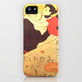 """Henri de Toulouse-Lautrec """"Reine de Joie"""" iPhone Case"""