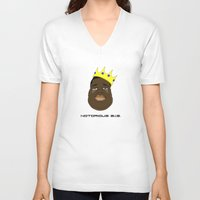 notorious big V-neck T-shirts featuring Notorious B.I.G. by Λdd1x7