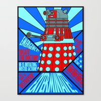 doctor who Canvas Prints featuring Doctor Who by Alli Vanes