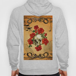 Skull with roses Hoody