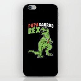 Papasaurus   Father's Day Dinosaur iPhone Skin