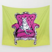 lime Wall Tapestries featuring Lime by Rebel June
