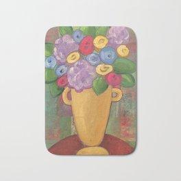 Folk Floral Vase Bath Mat