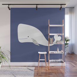 White Whales Wall Mural