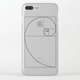 Fibonacci Spiral Clear iPhone Case