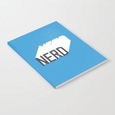 Retro Nerd Blue Notebook