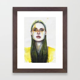 yellow lemongrass Framed Art Print