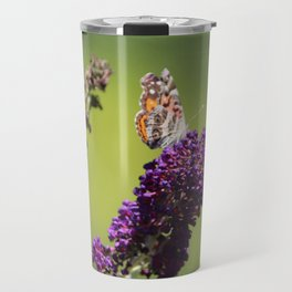 Butterfly With Flowers Travel Mug