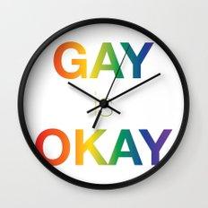 Gay is Okay Wall Clock