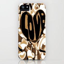 Cabsink16DesignerPatternShadowsOfLove iPhone Case