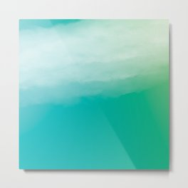 Watercolor (turquoise) Metal Print