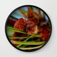 rustic Wall Clocks featuring Rustic by Nicole Stamsek