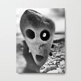 Evil Mr Stoneface Metal Print